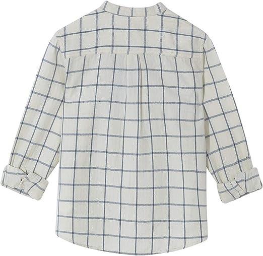 Gocco Camisa Cuadros Cuello Mao, Camisa para Niños, (Azul ...