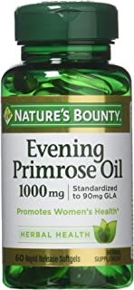 Nature's Bounty Evening Primrose Oil, 1000mg, 180 Softgels (3 X 60 Count Bottles)
