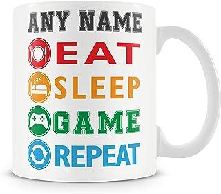 Gaming Mug - East Sleep Game Repeat Personalised Gamer Cup