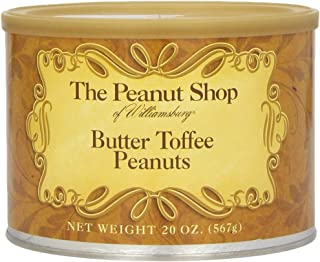 The Peanut Shop of Williamsburg Butter Toffee Peanuts, 20 Ounce Tin