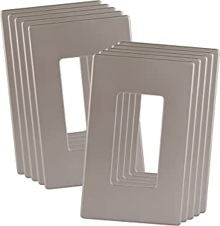 ENERLITES Elite Series Screwless Decorator Wall Plates Child Safe Outlet Covers, Size 1-Gang 4.68