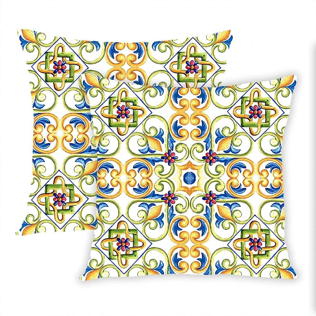 Sgvsdg Large-scale sale Set of 2 Throw Pillow Spain It Watercolor Cover Ornaments mart