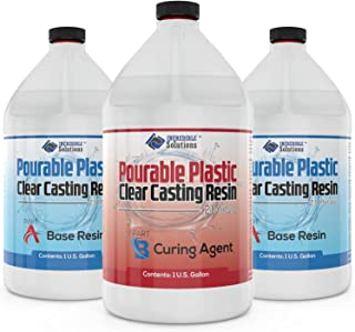 """3 Gallon DEEP Pourable Plastic Casting Resin 2"""" Thick Specially Designed for River Tables & Large Castings"""
