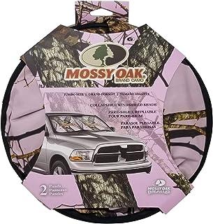 Mossy Oak Windshield Sunshade Visor (Pink Camo, Double Panels)