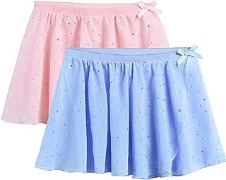 Girls Ballet Dance Skirt Chiffon Wrap Dancewear 2-Pack