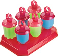 Tovolo Jewel Ring Ice Pop Molds, Drip-Guard Handle, 1.25 Ounce Popsicles, Set of 6
