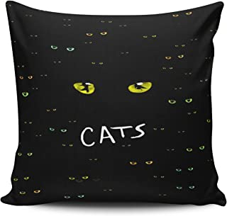 KEIBIKE Personalized The Broadway Musical Cats Pattern Square European Decorative Pillowcases Vintage Zippered Throw Pillow Covers Cases 26x26 Inches One Sided