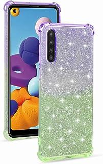 جراب Mylne Soft Glitter لهاتف Samsung Galaxy A30S، جراب نحيف مضاد للصدمات 2 في 1 مرن من السيليكون الواقي اللامع للفتيات وا...