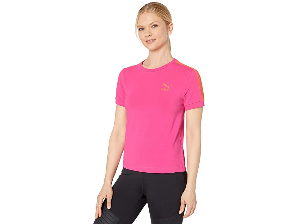 PUMA Classics Tight T7 Tee (Fuchsia Purple) Women
