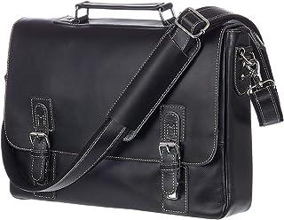 Viosi Mens RFID Leather Messenger Bag / 14 or 16 Inch Laptop Briefcase Shoulder Satchel Bag/RFID Money Clip Included