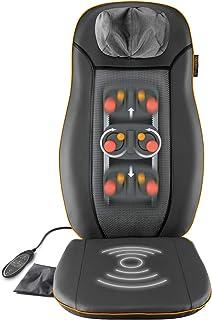 Medisana MCN - Respaldo con masaje cervical con 3 zonas de masaje, función de calor, función de luz roja, masaje de cuello ajustable en altura, adecuado para cualquier silla, 48 W, 220-240 V, 50-60 Hz
