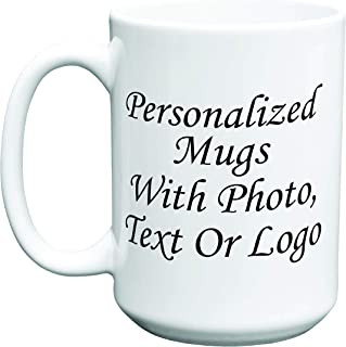 Personalized Photo Coffee Mug 11oz 15oz 20oz Customized Text Logo Family Picture (15oz)