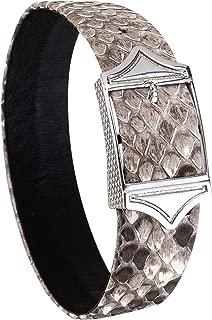 leather name bracelets