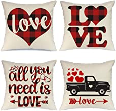 SiegenPro Throw Pillow Covers Cases 45 x 45cm Love Heart Home Decor Throw Pillow Case Covers 18 Inches Sofa Couch Pillow C...