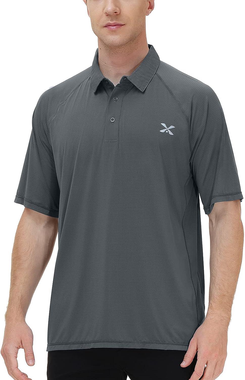 Corna Men's Golf Polo Max Genuine Free Shipping 84% OFF Shirt an Performance Moisture Wicking Long