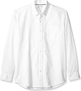 Amazon Essentials Men's Regular-Fit Long-Sleeve Solid Oxford Shirt