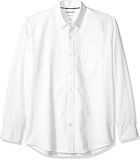 Amazon Essentials Men's Regular-Fit Long-Sleeve Solid Oxford Shirt