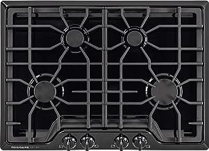 Frigidaire Gallery 30 Inch Gas, Black 4-Burner Range with Liquid Propane Conversion Kit, FGGC3045QB Cooktop