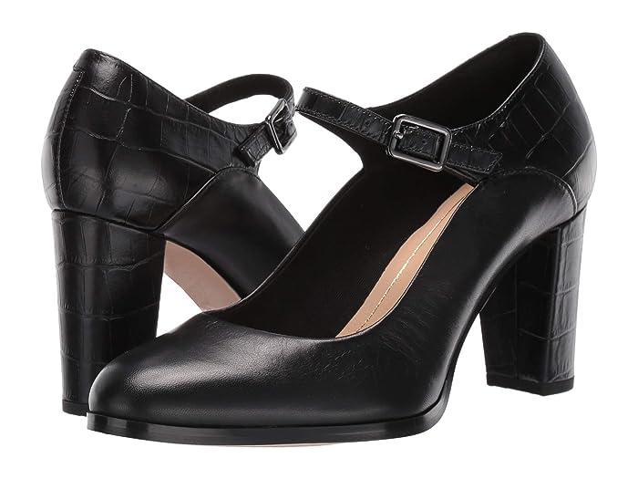 1940s Style Shoes, 40s Shoes Clarks Kaylin Alba Black Combi Womens  Shoes $109.95 AT vintagedancer.com