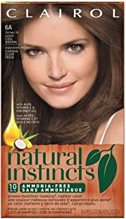 Clairol Natural Instincts Hair Color, Light Cool Brown 6A 1 ea (Pack of 8)