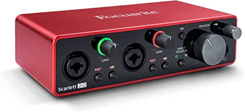 Scarlett 2i2 3rd Gen 2-in, 2-out USB Audio Interface (Renewed)