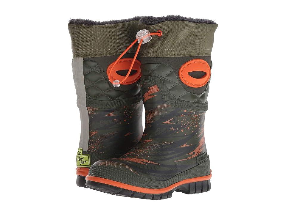 Western Chief Kids Winterprene Boots (Toddler/Little Kid/Big Kid) (Olive) Girls Shoes