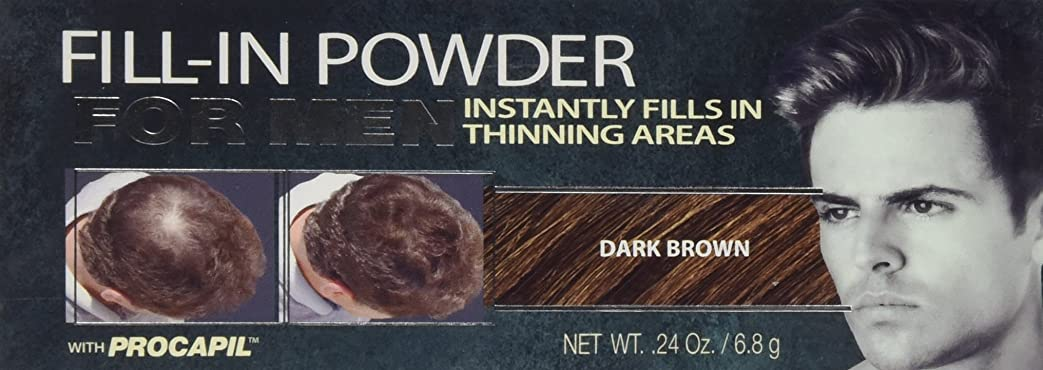 一目推論バングCover Your Gray Fill-In Powder for Men Dark Brown (並行輸入品)
