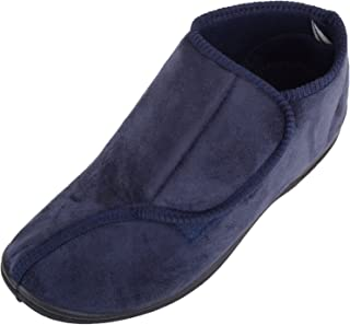 ABSOLUTE FOOTWEAR Womens Slip On EE Wide Fitting Slippers/Boots with Ripper Fastening