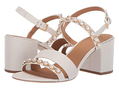 Tory Burch 65 mm Emmy Pearl Sandal (Linen White) Women