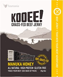 KOOEE! Grass-fed Beef Jerky Manuka Honey, 10 Count, Manuka Honey