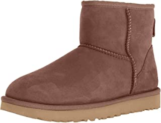 UGG Women's Classic Mini II Leather Chocolate Ankle-High Suede Boot - 6M