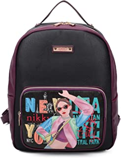 Nikky Frances Printed Leather Backpack -Character Women Fashion School Backpacks (Vicky Does Sports)