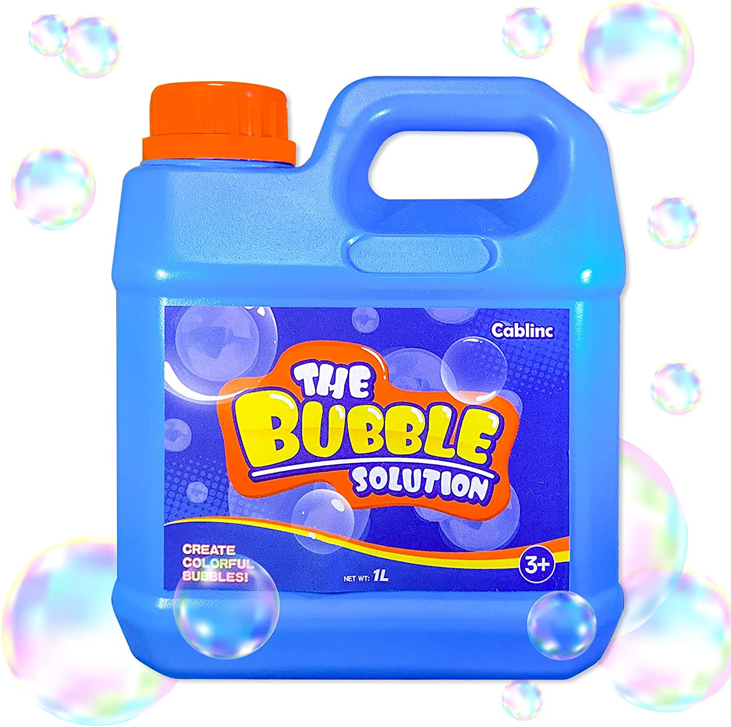 Giant Bubble Solution Refill (Up to 2.7 Gallon) 1L/35 Ounce, Con