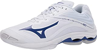 Mizuno Men's Wave Lightning Z6 Volleyball Shoe, White-Navy, 10 D US