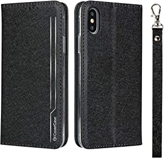 حافظة هاتف قلابة لجهاز آيفون 7 8 XR 11 برو XS ماكس بنمط حريري من آي كوفر كيس