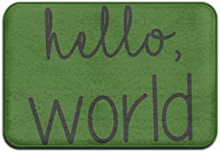 GREATINC Art Design Doormats Hello Word Funny Door Mat Monogram Doormat Non-slip Doormat Coral Fleece Indoor Outdoor Kitch...