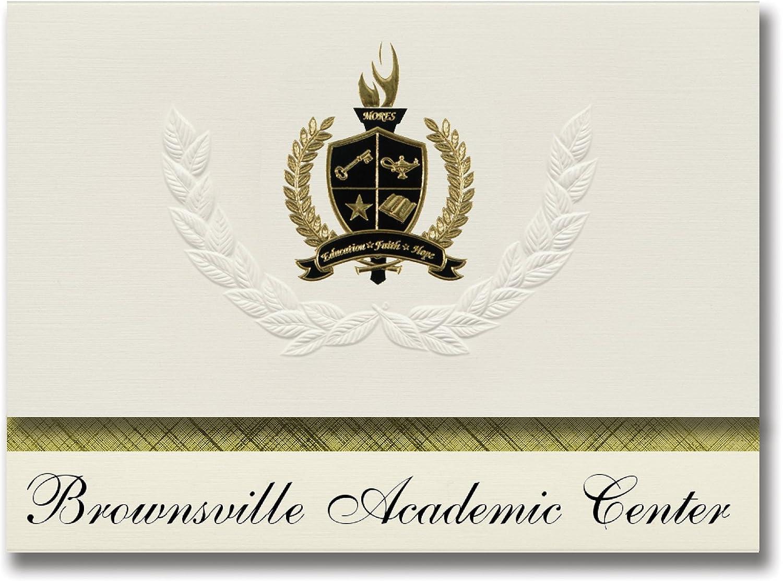 Signature Signature Signature Ankündigungen braunsville (Akademischer Center (braunsville, TX) Graduation Ankündigungen, Presidential Stil, Elite Paket 25 Stück mit Gold & Schwarz Metallic Folie Dichtung B078VF9NJZ    | Exzellente Verarbeitung  9919d2