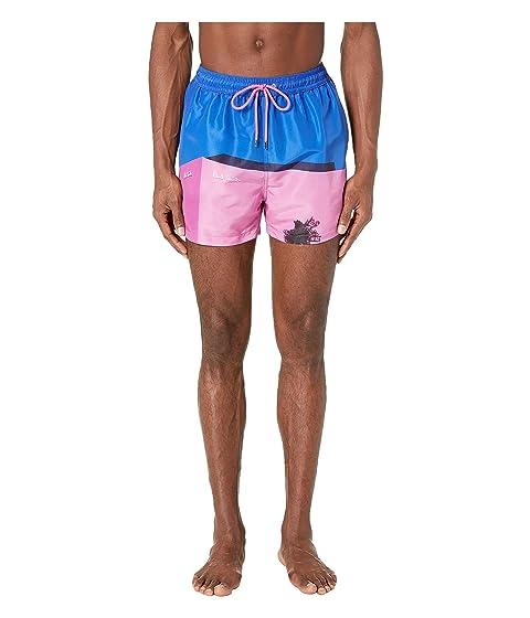 Paul Smith La Pink Wall Classic Swim Shorts