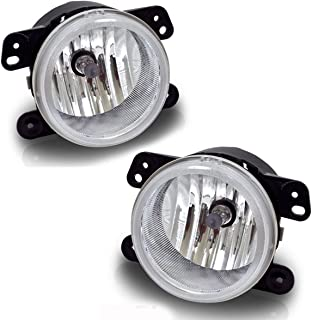 Fog Lights For Chrysler 300 Chrysler 300 3.5L Touring 2005-2010 PT Cruiser 2006-2009 Dodge Magnum 2005-2008 Journey 2009-2010 Jeep Wrangler 2007-2011 (OE Style Clear Lens w/Bulbs) ATFL0305