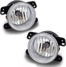 Fog Lights For Chrysler 300 Chrysler 300 3.5L Touring 2005-2010 PT Cruiser 2006-2009 Dodge Magnum 2005-2008 Journey 2009-2010 Jeep Wrangler 2007-2011 (OE Style Clear Lens w/Bulbs) ATFL0305