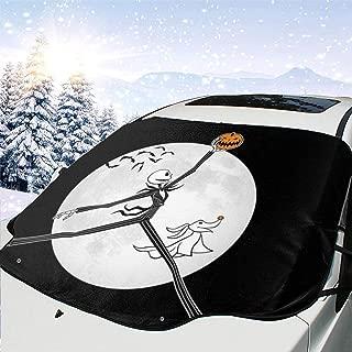 MaryTiTi Windshield Snow & Ice Cover Jack Skellington Windshield Snowshade,Sunshade UV Protector for Car/Truck/SUV