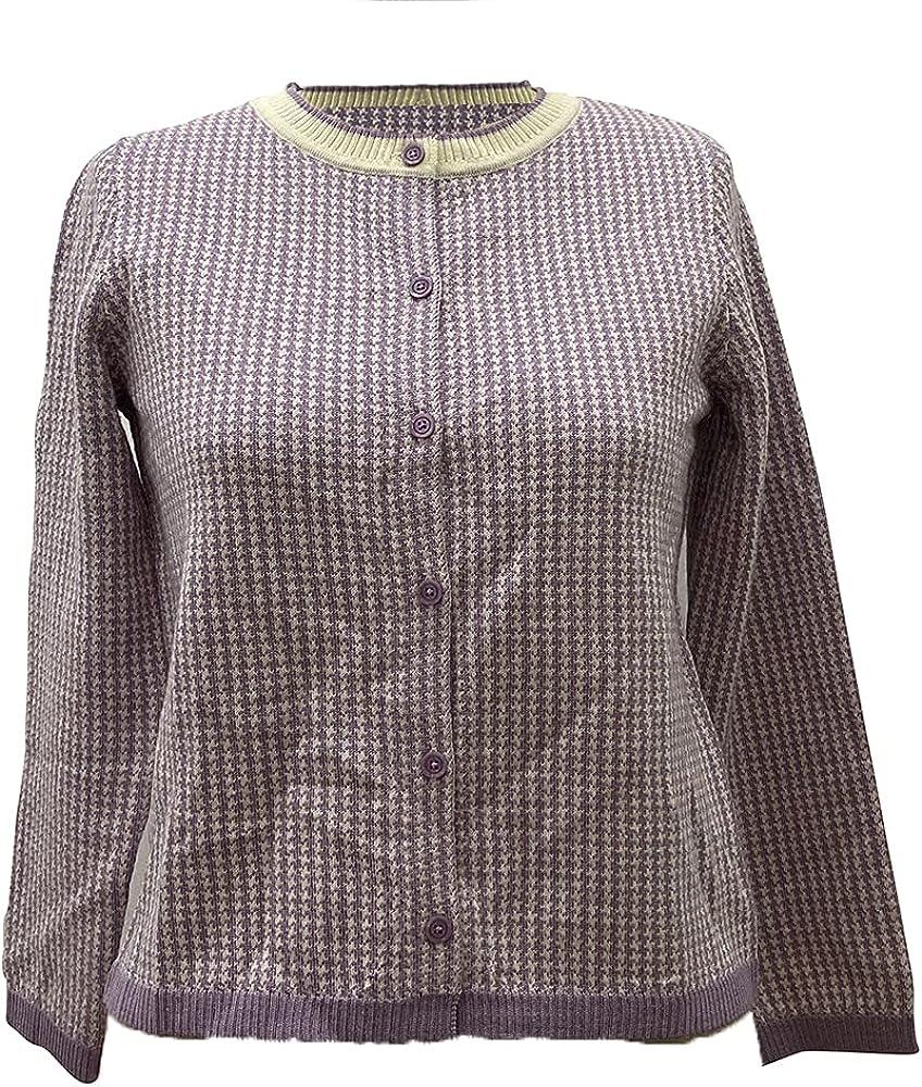 Phidias Women's Cardigan price Long Sleeve Spasm price Checkered Crewneck P in 40