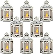 zkee Mini Candle Lantern with Flickering LED,Battery Included,Decorative Hanging Lantern,Christmas Decorative Lantern,Indo...