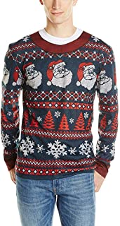 Faux Real Men's 3D Photo-Realistic Ugly Christmas Sweater Long Sleeve T-Shirt