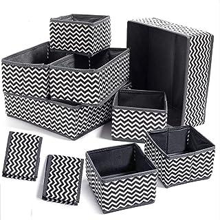 Evance 10Pcs Boîtes de Rangement Ouvertes en Textile Non-Tissé, Tiroir en Tissu,Cube de Rangement Pliable Coffre pour Sout...