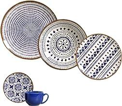 Porto Brasil Ceramica Asteca Dinnerware Set, Service for 4