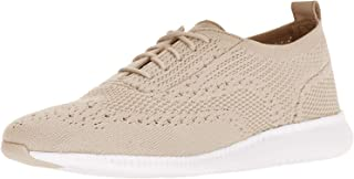 Cole Haan womens 2.zerogrand Stitchlite Oxford, Rye Knit/Optic White, 6.5 US