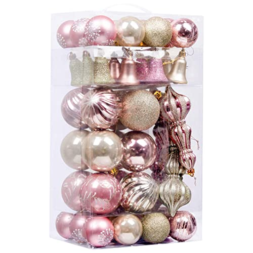 Pink And Silver Christmas Ornaments Amazon Com