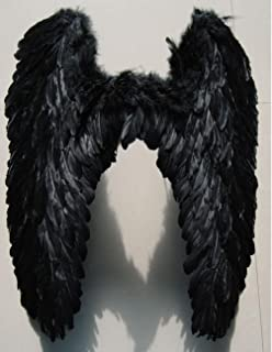 """Pre-fashion 31.5"""" 31.5"""" Halloween Christmas Costume Dance Party Cosplay Stage Show Decor Butterfly Angels Feathered Wings (Black)"""