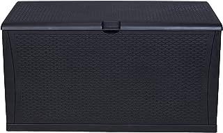 KOOLWOOM Deck Box, 120-Gallon Patio Outdoor Plastic Storage 47.2